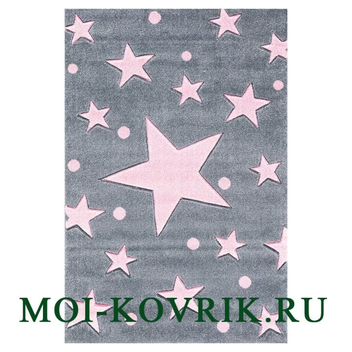 Ковер Livone Kids Stars Grau Only