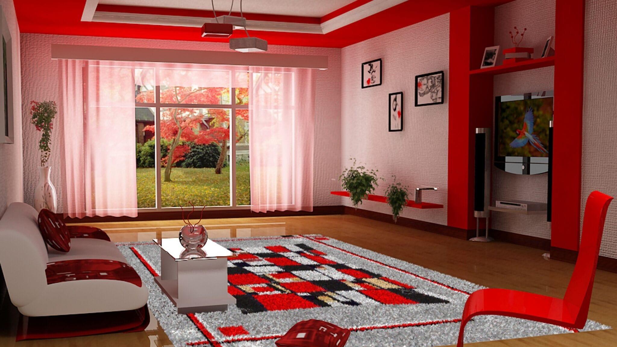 Цветные ковры в интерьере — ковры с графическим рисунком, цветами, яркими полосами